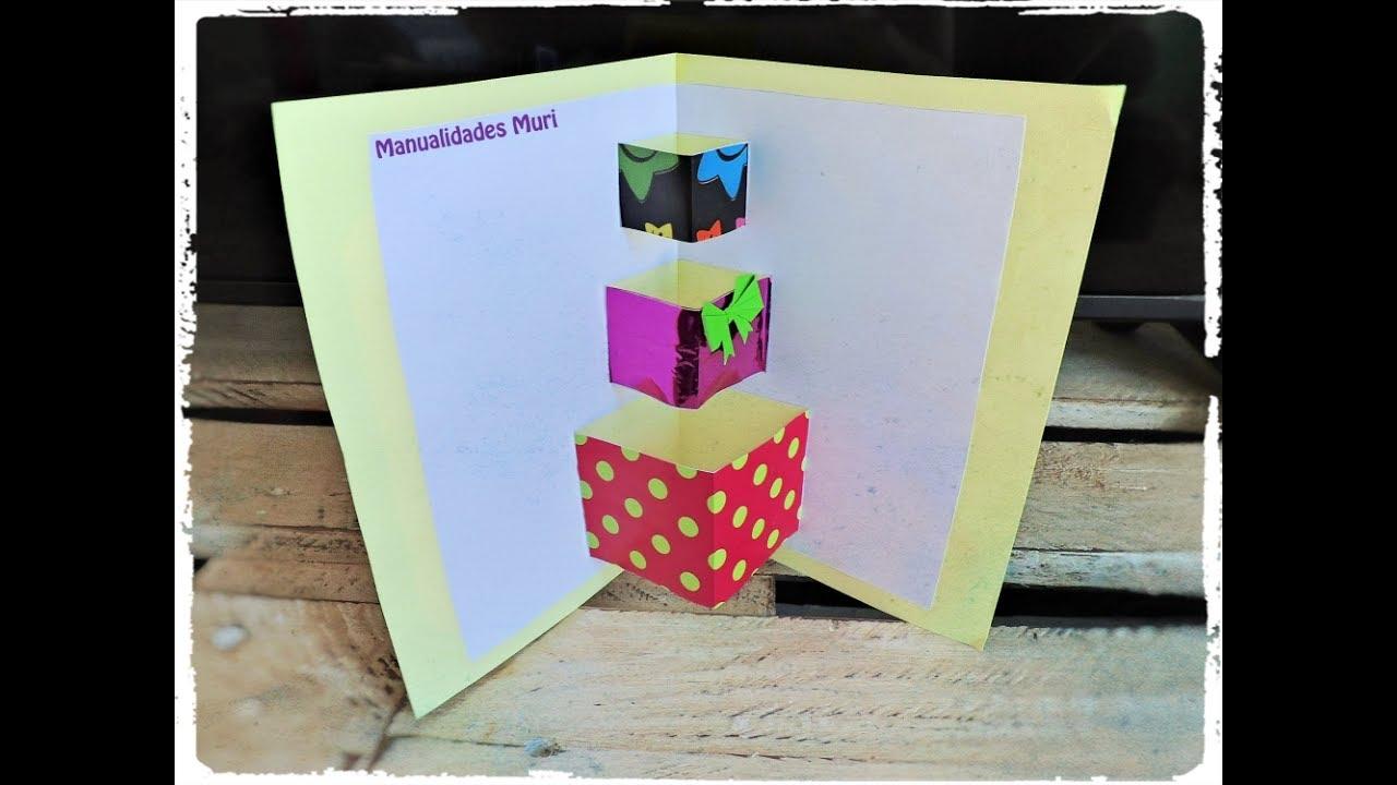 Tarjeta Pop Up de Regalos! Perfecta para Cumpleaños / DIY sin ...