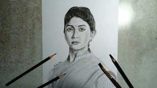 Kagar Movie Actor Rinku Rajguru Portrait Sketch