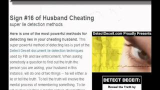 how to know ur husband is cheating