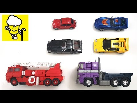 Transformer Stop Motion masterpiece Shattered Glass Optimus Prime Bumblebee Inferno