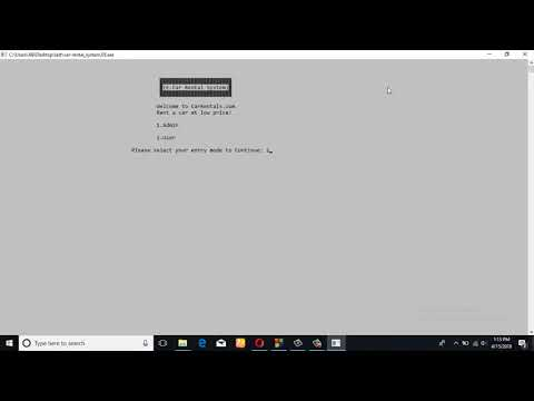 Software engineering project 1 video presentation (E- Car Rental System)