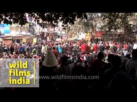 Endless crowd of Tibetan pilgrims - 32nd Kalachakra, Bodhgaya