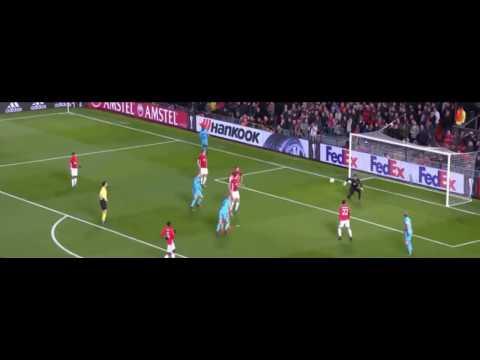 Sergio Romero amazing double save vs Feyenoord 2/11/2016