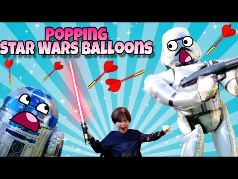 Destroying Our STAR WARS Airwalker Balloons | Popping Our Giant Balloons