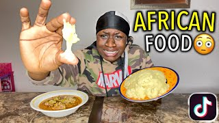 "TikTok Trends: Eating an African Dish ""FUFU""???? *i choked* #MUSTWATCH #FUNNY"