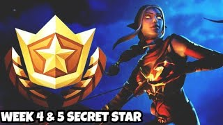 Fortnite Week 4 & 5 Secret Battle Star Season 8 ( Fortnite Battle Pass Challenges)