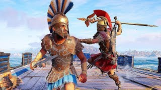 Assassin's Creed Odyssey Spartan War Hero Rampage, Staff of Hermes Kills & Naval Combat