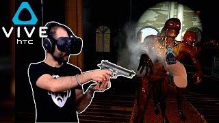 CEMENTERIO CON ZOMBIES (HTC Vive) | VR zGAME Gameplay Español