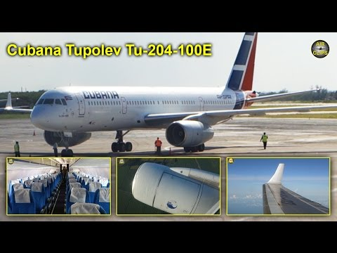 Cubana Tupolev 204-100E Holguin to La Habana MUST SEE!!! [AirClips full flight series]