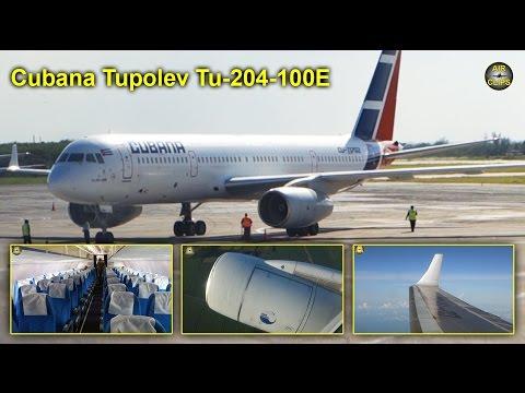 Cubana Tupolev 204-100E Holguin to La Habana MUST SEE!!! [AirClips full flight series]