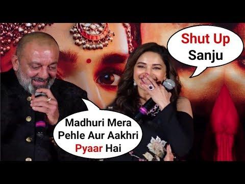 Sanjay Dutt Cute Reaction Makes Madhuri Dixit Blush At Kalank Teaser Launch