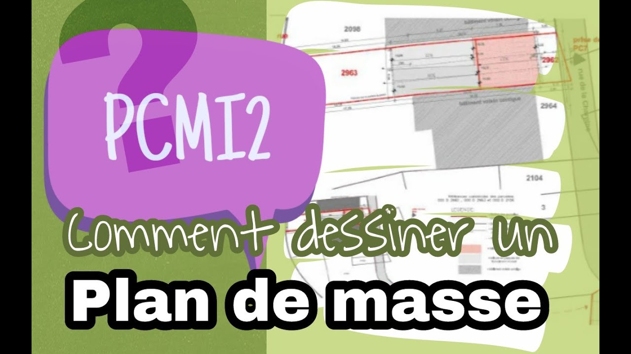 Comment dessiner un plan de masse youtube for Comment decouper un plan de travail