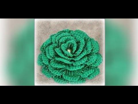 как связать цветок крючком для начинающих Crochet Flowers Youtube