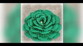 Как связать цветок крючком для начинающих. Crochet flowers(Группа вк: http://vk.com/vse_o_vyazanii Также можете посмотреть как вязать красивый шнурок: https://youtu.be/AqC8AxIiofM Как вязать..., 2016-03-21T20:33:44.000Z)