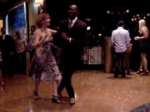 Salsa@The El San Juan Hotel Lobby (Check out this Smooth Brother ) as All Eyes where on Him.