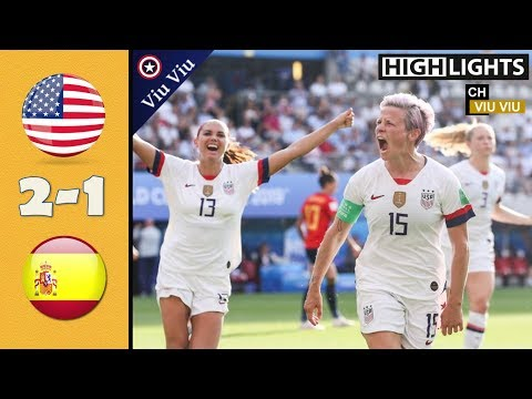 [ Round Of 16 ] USA vs Spain 2-1 All Goals & Highlights | 2019 WWC