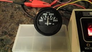 How to test a temperature sensor / sending unit and temperature gauge