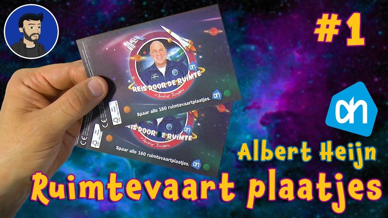 Verwonderlijk AH Ruimtevaart kaartjes uitpakken! Net zo leuk als de dino RC-78