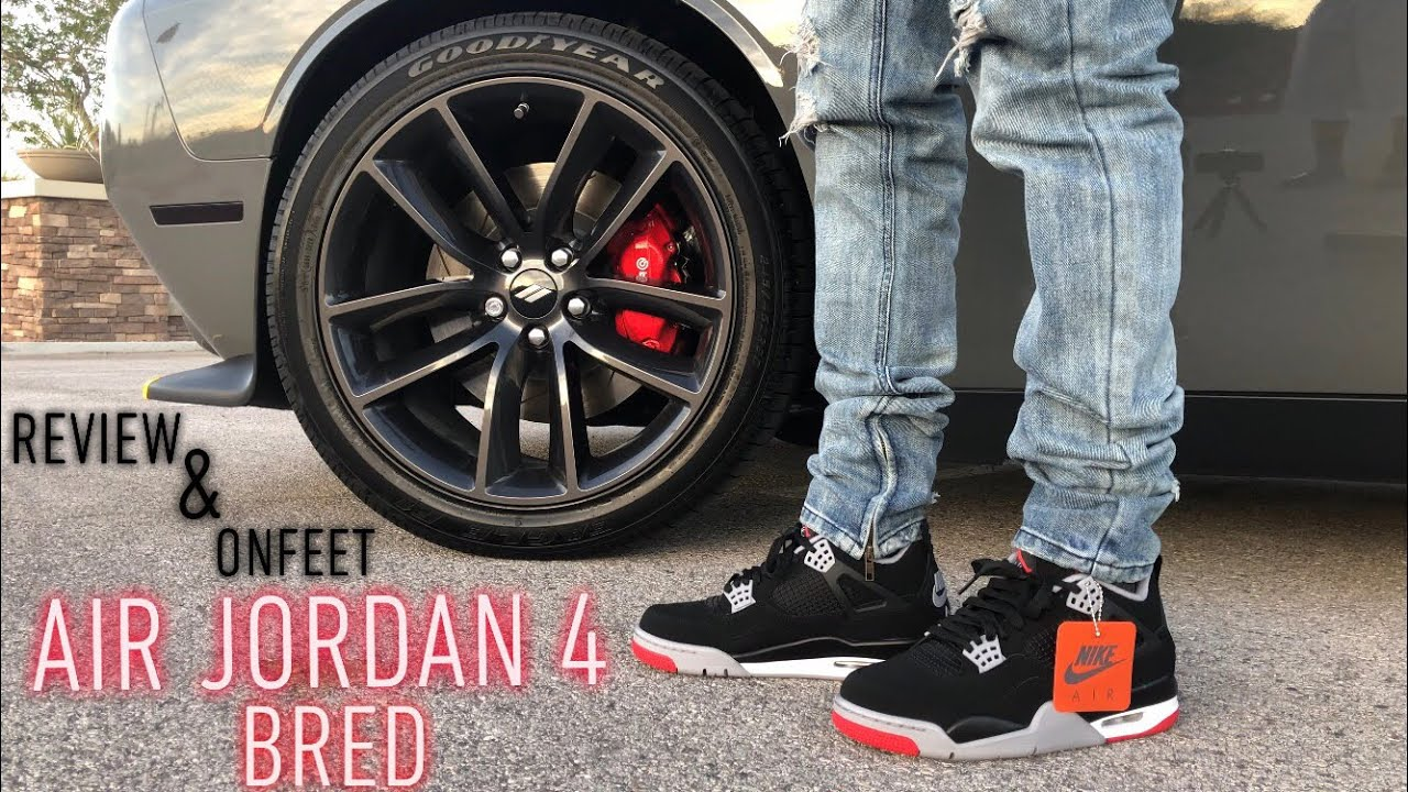 50ea9300d57100 2019 Air Jordan 4 Bred Review and On Feet(SNKRS APP SHOCK DROP ...