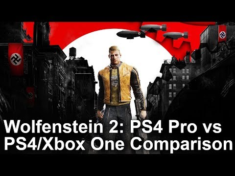 [4K] Wolfenstein 2 PS4 Pro vs PS4/Xbox One Graphics Comparison + Frame-Rate Test