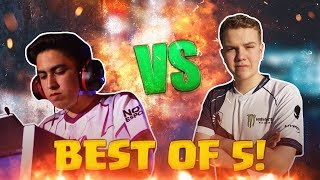 CHAMPION FACE OFF! Pompeyo4 vs Surgical Goblin! Best Of 5 Games - Clash Royale