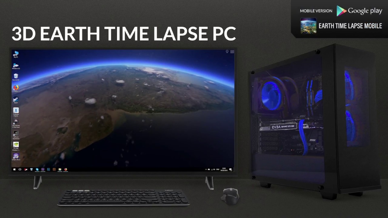 3d earth time lapse pc live wallpaper steam youtube