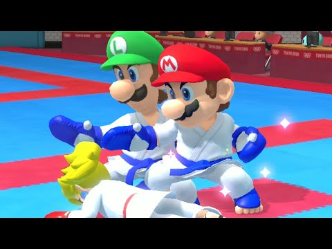 Mario & Sonic at the Olympic Games Tokyo 2020 - Karate All Characters Gameplay