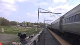 Amtrak AEM-7AC WITH AMAZING HORN!!!!! DOPPLER EFFECT AT 125 MPH!!!!