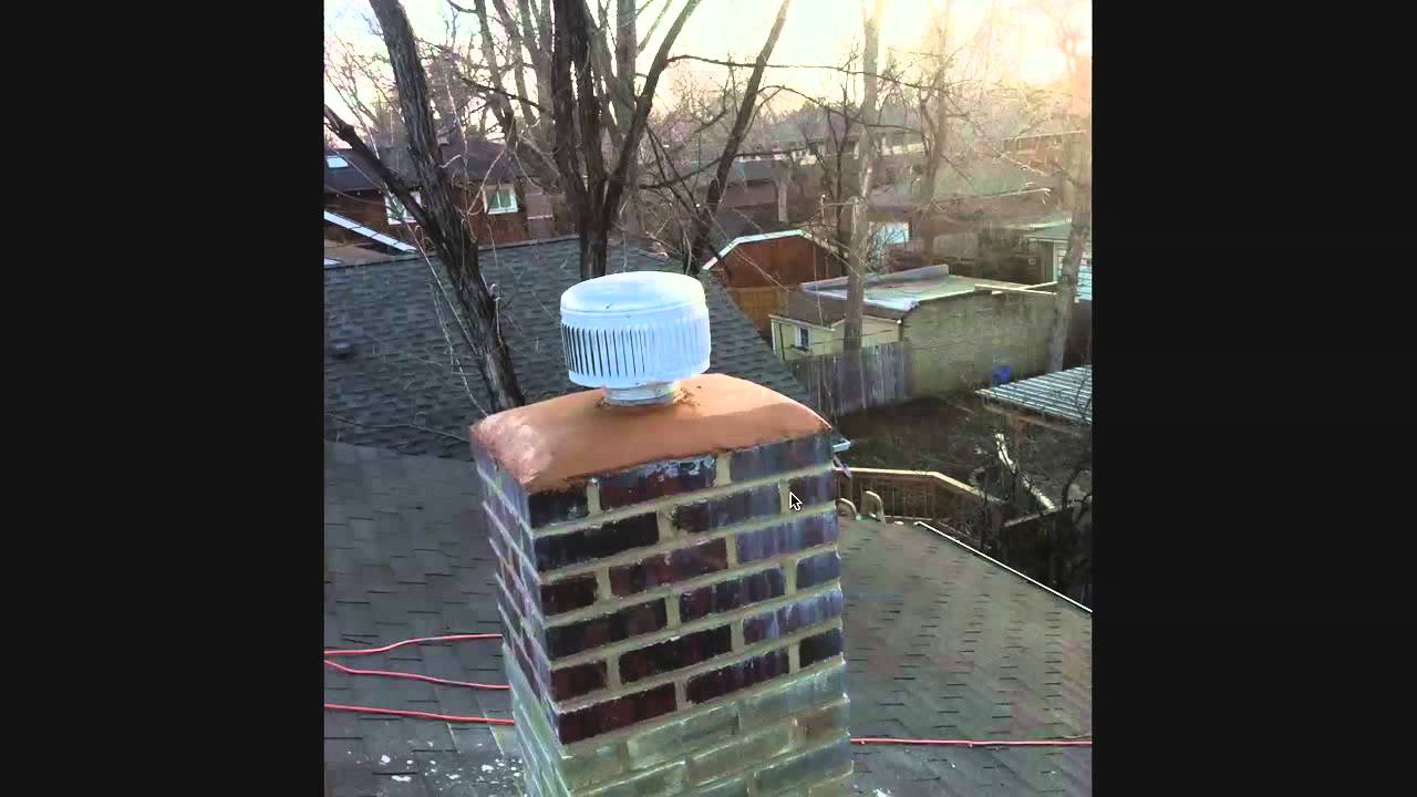 How To Tuckpoint Small Chimney Repair Installing A Mortar Cap
