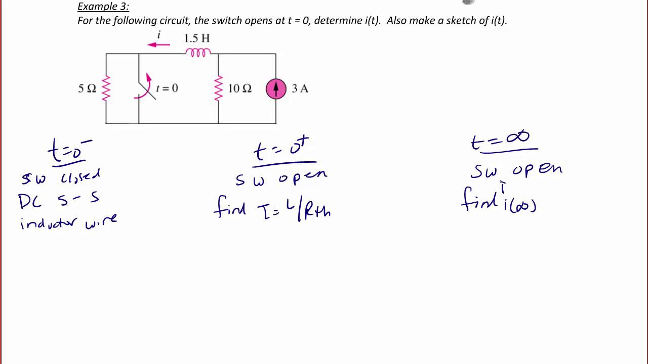 Ece203 Lecture 10 2 Step Response And General Solution Of Rl Rc Values The Resistors Capacitors For Our Thirdorder Circuit Circuits