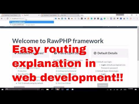 Web development tutorial - recruitment platform - 4 - how routes work | routes