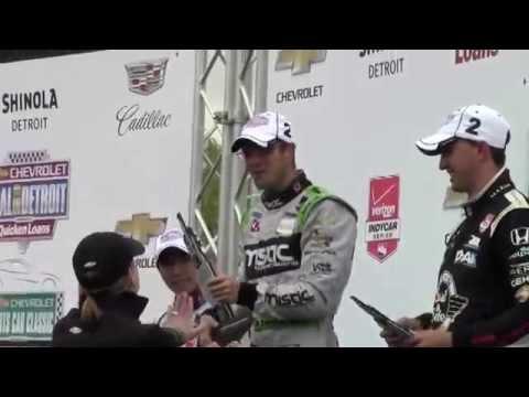 Sebastien Bourdais KV Racing Technology winner of the 2015 Detroit Grand Prix at Belle Isle