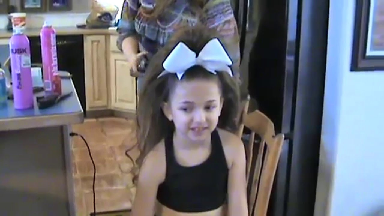 Cheer Hair Half Up Half Down With Elizabethflyer Youtube
