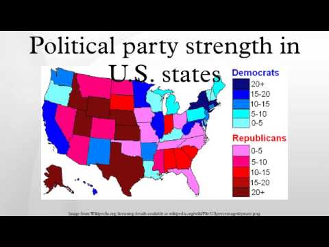 Political party strength in U.S. states