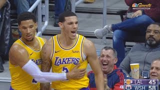 Lonzo Ball Gets ANGRY At Ref After John Wall Tackles Him But No Foul Is Called! Lakers vs Wizards