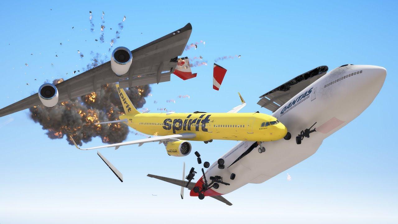 A321 Crash Into A380 Mid Air During Emergency Landing | GTA 5