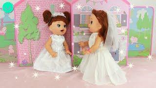 Vestidos de BODA para las muñecas SARA y SARITA Baby Alive
