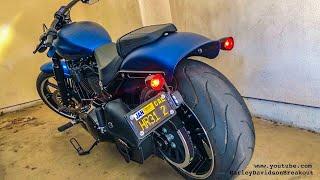 155/1900 Harley-Davidson FXBRS Breakout Exhaust Sound (Jay from California)