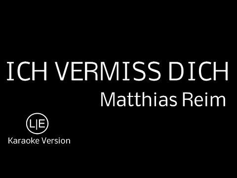 """instrumental-karaoke-""""ich-vermiss-dich""""-matthias-reim-with-lyrics-!-songtext"""