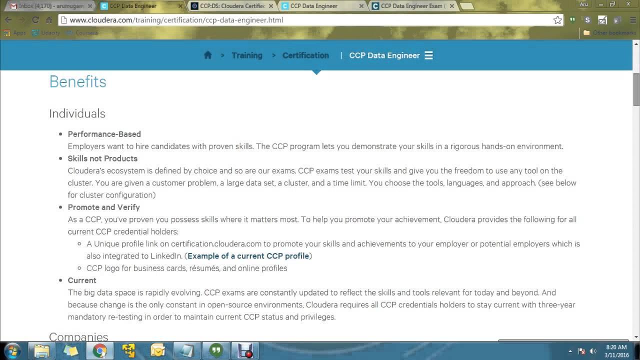 Hadoop Certification In Tamil Part 3 Ccp Data Engineer Exam