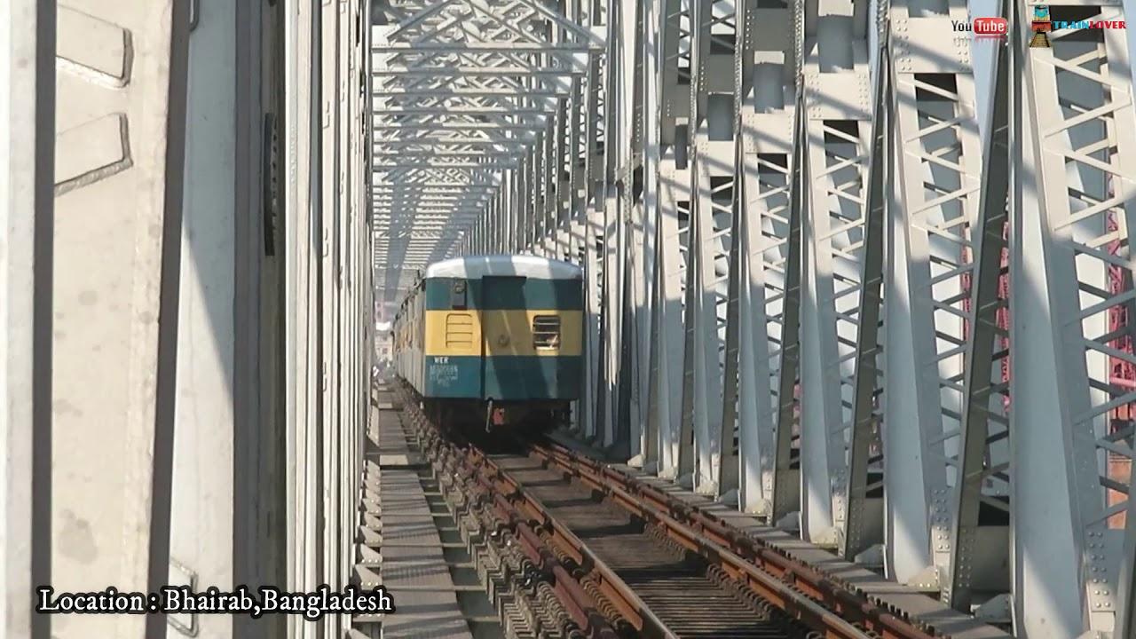 Amazing Railway bridge bhairab Bazar || Kalni express passing Through with good Speed|| (BR)
