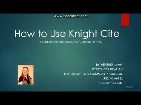 How to Use Knight Cite: A Citation Tool