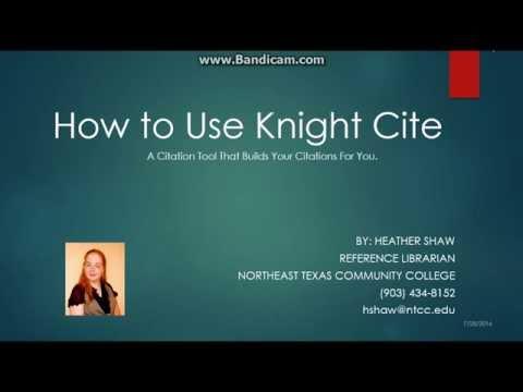 knight cite mla format