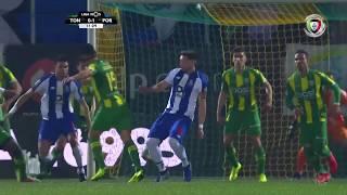 Goal   Golo Pepe: Tondela 0-(1) FC Porto (Liga 18/19 #23)