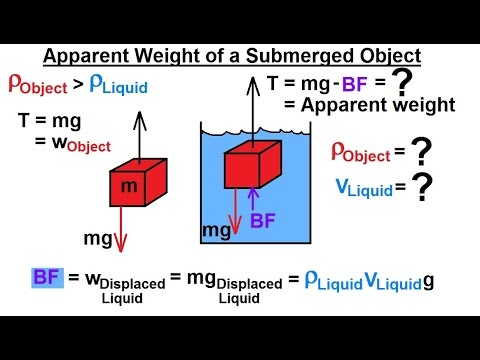 Physics - Mechanics: Fluid Statics: Buoyance Force (6 of 9) Apparent Weight of a Submerged Object