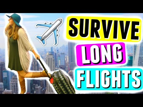 ✈️ SURVIVE LONG FLIGHTS! Travel Essentials, Carry-On Bag + Space Saving Hacks!