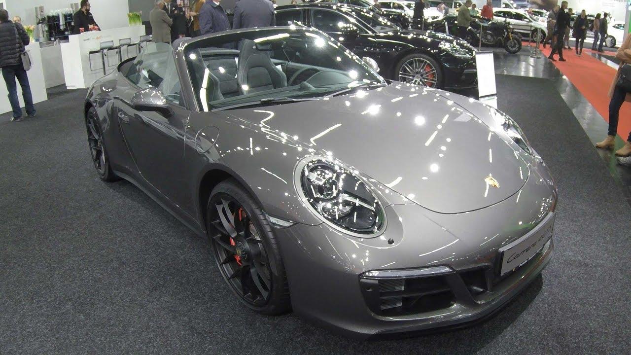 porsche 911 carrera 4 gts cabriolet ii 991 facelift 991 2 achat grey walkaround interior. Black Bedroom Furniture Sets. Home Design Ideas