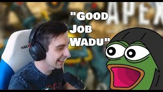 Shroud Teams up with Wadu and they destroyed everybody Apex Legends