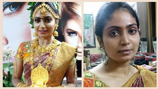 SOUTH INDIAN  BRIDAL MAKEUP LOOK |MUHURTHAM LOOK