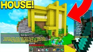 BUILDING WORLD'S BIGGEST HOUSE IN MINECRAFT BED WARS!